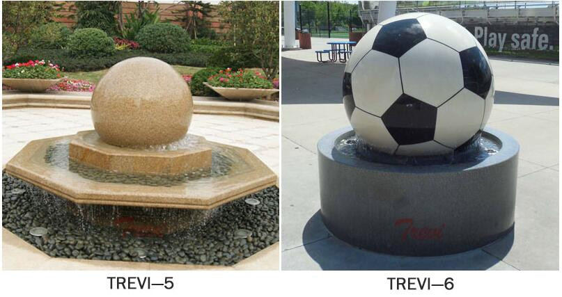 Outdoor granite stone sphere water features fountains for the garden design