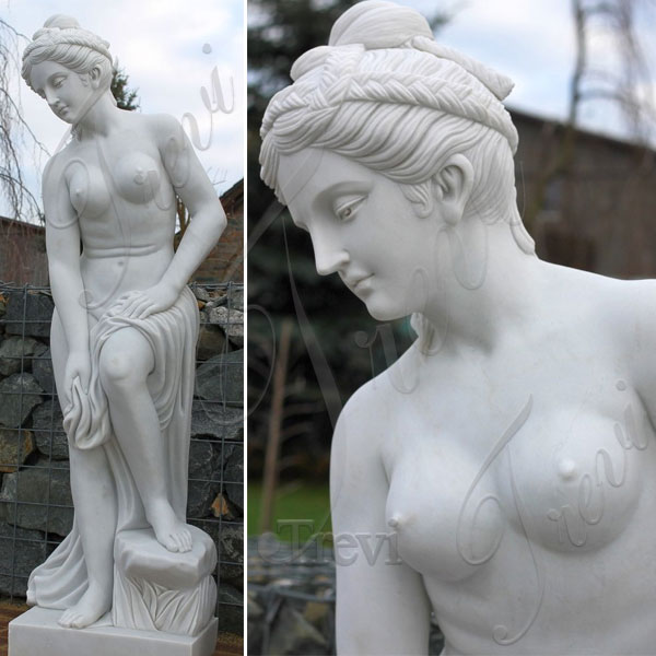 White marble nude statues of woman for outside garden TMC-51