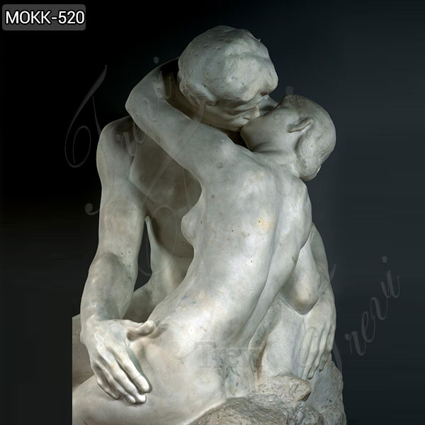Famous Italian Marble Statue Rodin Sculpture Replica The Kiss For Sale