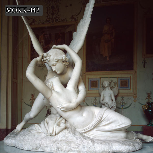Marble Art Statue Famous Modern Sculpture Cupid and Psyche Statue for Sale MOKK-442