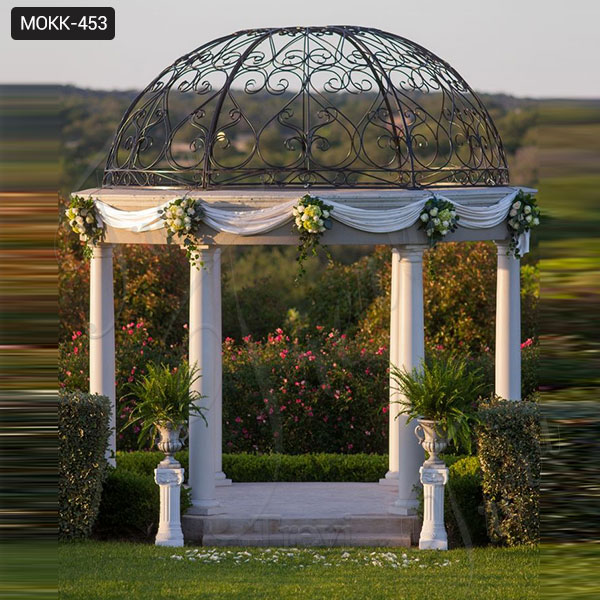 Marble Gazebo Wedding Gazebo Pictures Gazebo Designs for Backyards Cheap Gazebo for Sale MOKK-453