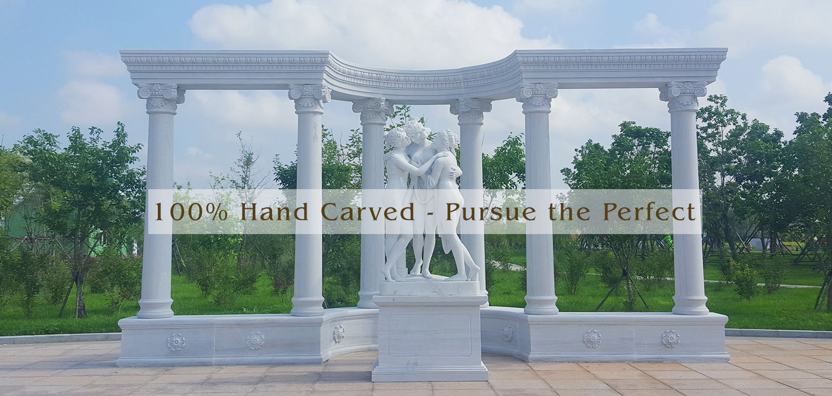 Garden landscape famous marble sculpture sets outdoor lawn ornaments