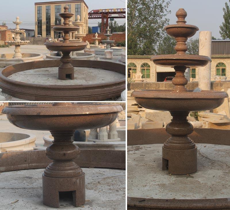 Outdoor Tiered Fountain Water Fountain for Backyard Decor