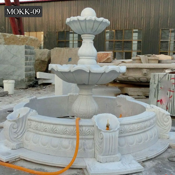 Hand Carved Marble Fountain Garden Tired Water Fountain MOKK-09