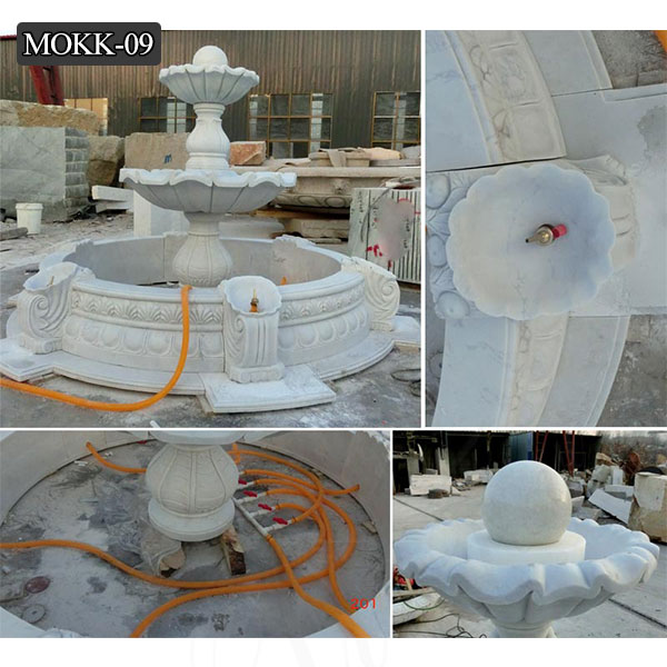 Hand Carved Marble Fountain Garden Tired Water Fountain