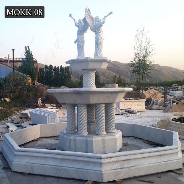 Outdoor Water Fountain Figure Life Size Marble Fountain MOKK-08