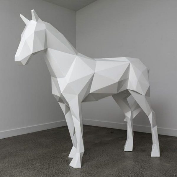 The more and more popullar sculpture for garden abstract outdoor sculpture of geometric animal