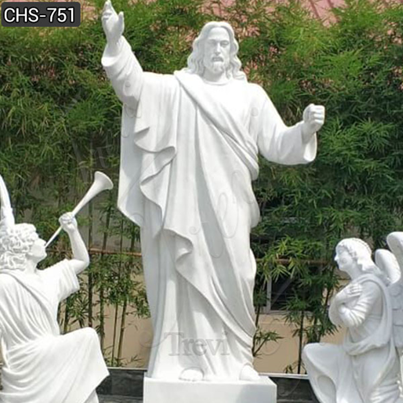 Jesus Christ Statue with Angels Statue on sale