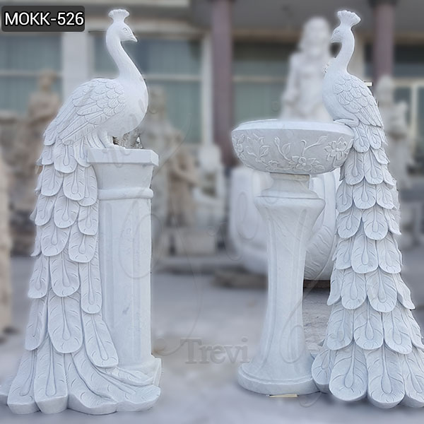 Large Pure Hand Craved White Marble Planter Animal Flower Pot MOKK-526