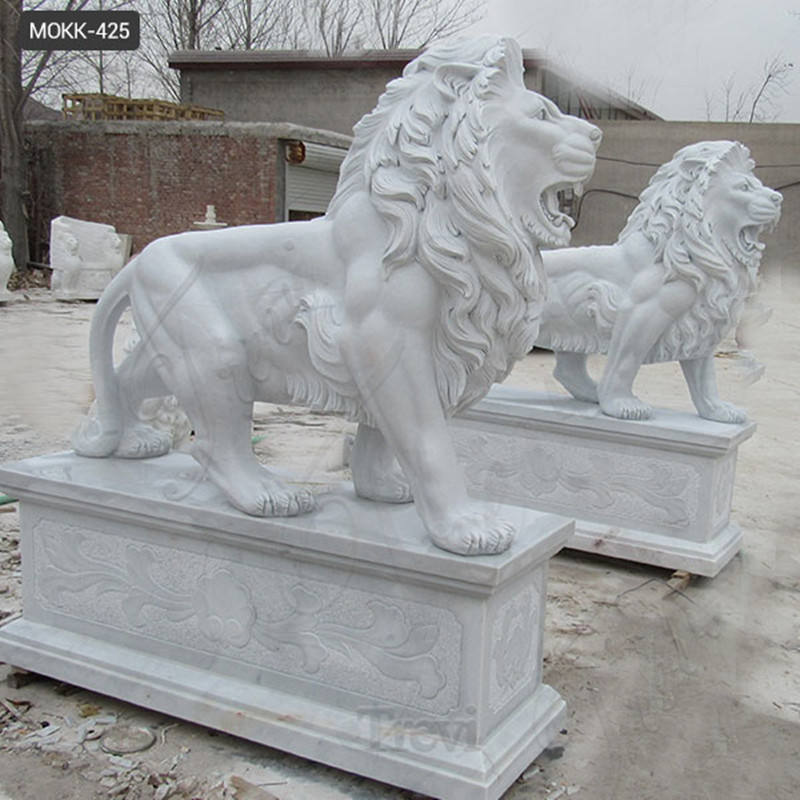life size marble lion statue