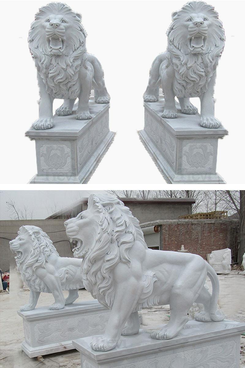 lion statues for front porch on sale