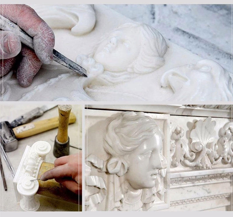 process of Life size lion statues