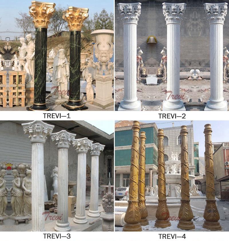 Decorative Lady Statue Marble Columns for sale