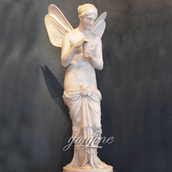 Famous White Marble Psyche Holding the Flask Angel Statue by Bertel Thorvaldsen MOKK-320