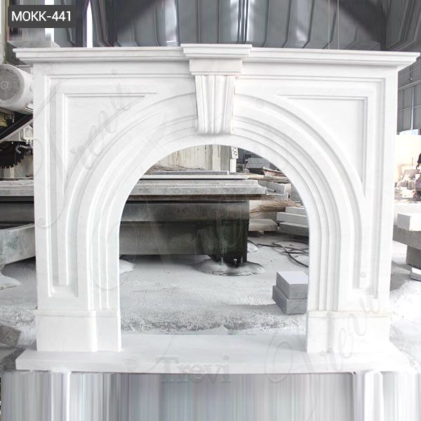 High Quality Home Decorative Modern Marble Fireplace Surround for Sale MOKK-441