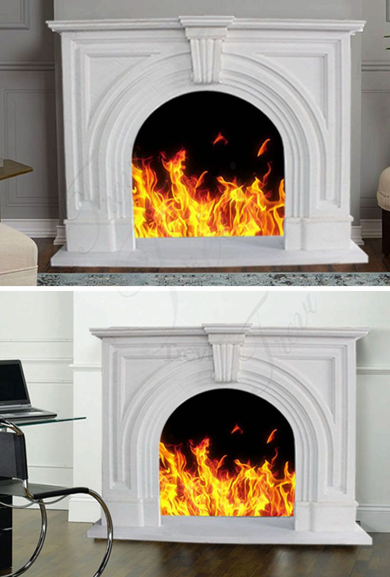 High Quality Home Decorative Modern Marble Fireplaces Surround For Sale
