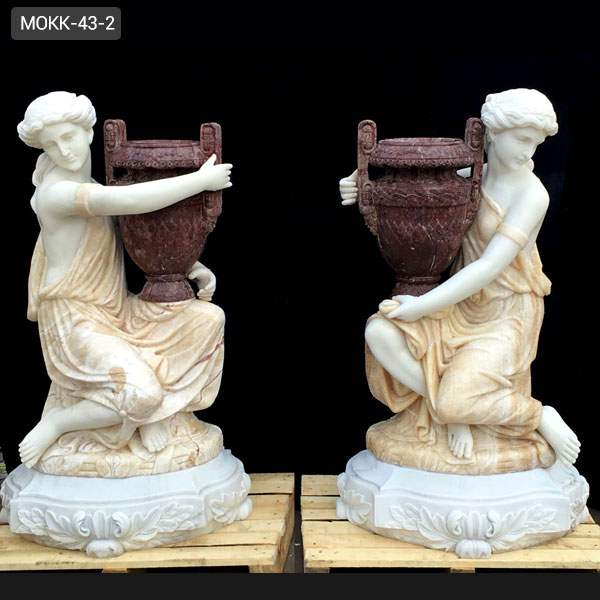 Hot Sale Large Modern Outdoor Plant Pots Carved Figure Statue for Sale