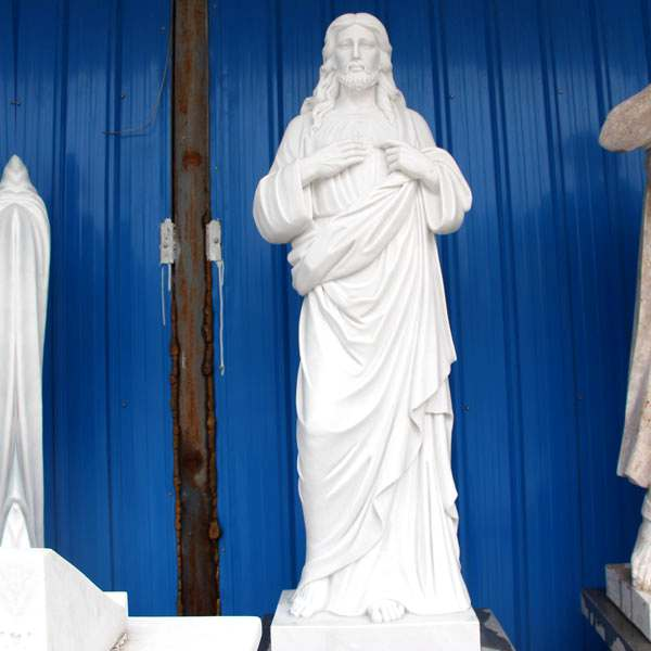 Large Sacred Heart Jesus Christ Religious Garden Marble Sculpture for Sale CHS-299