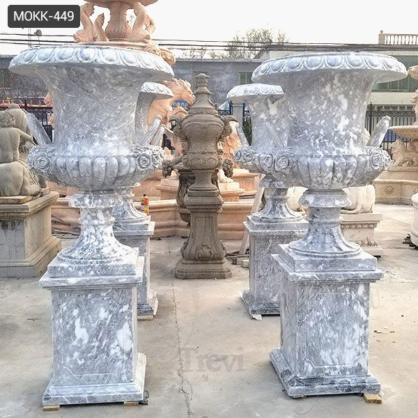 Life Size Hand Carved Marble Planter Pot