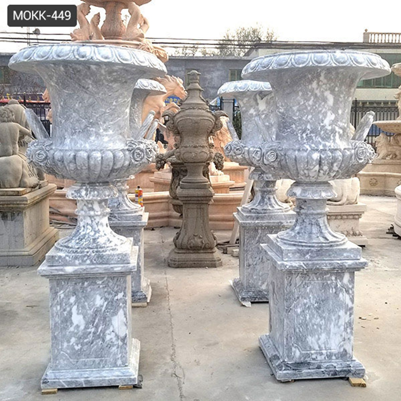 Life Size Hand Carved Marble Planter Pots for sale