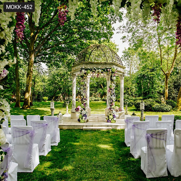Outdoor Marble Gazebo for Weddings Ceremony Decoration Design for Sale MOKK-452
