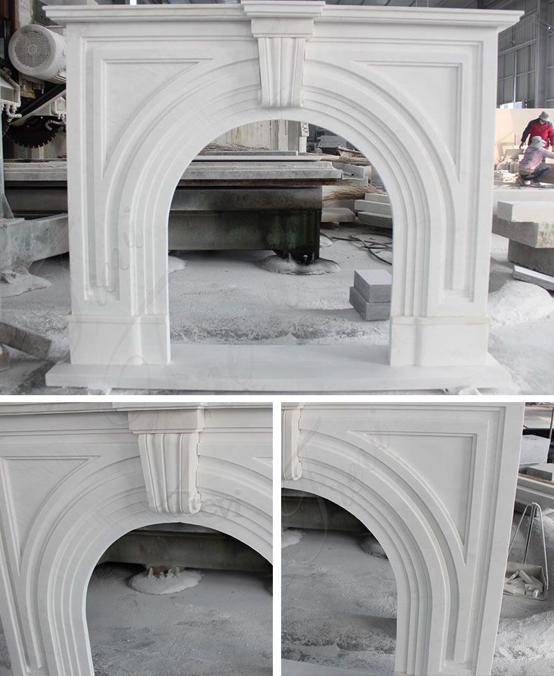 Modern Marble Fireplace Surround For Sale