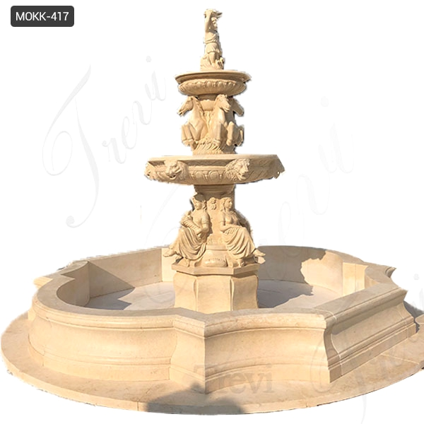 Outdoor Tiered Natural Stone Water Fountains Garden Decoration for Sale MOKK-417