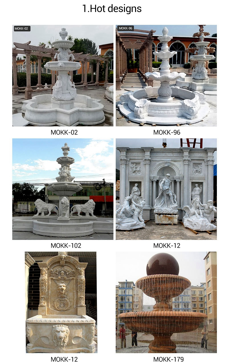 Outdoor Tiered Natural Stone Water Fountains