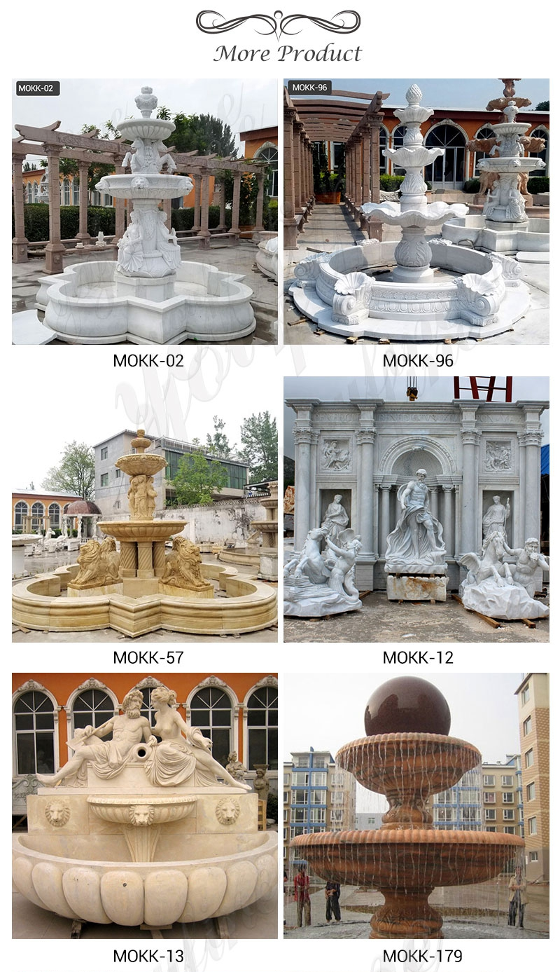 Outdoor Two Tiered Garden Simple Marble Fountain