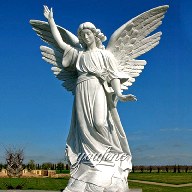 White Marble Female Angel Statues