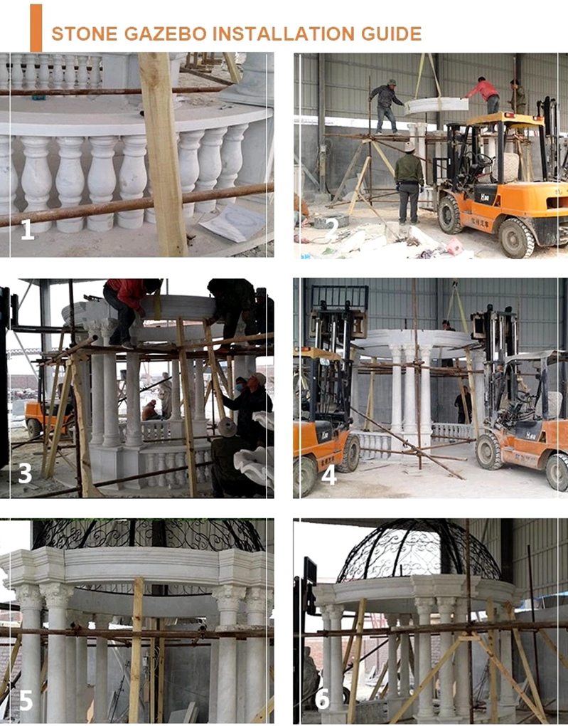 processing of marble gazebo carving for sale