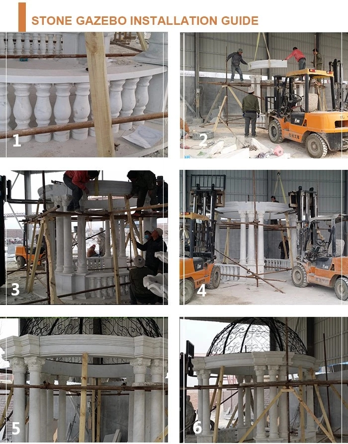 processing of marble gazebo carving
