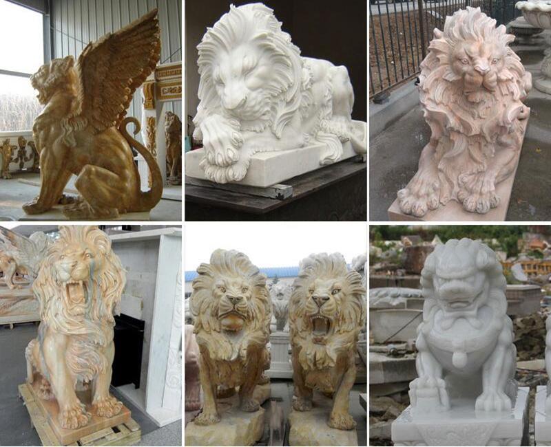 stone driveway lion entrance statues for sale