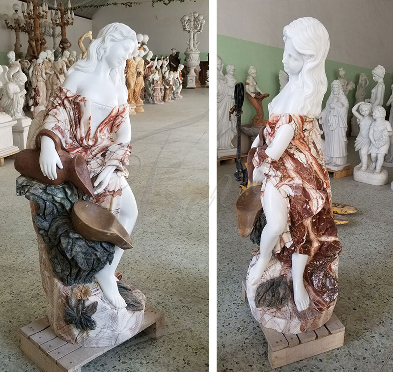 Beautiful Hand Carved with Statuary Marble Fountian Online