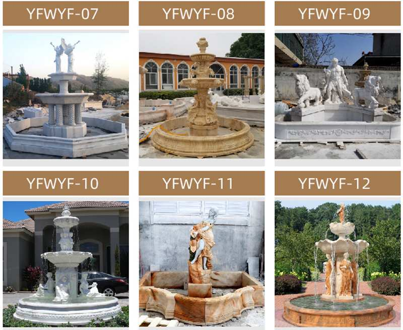 Beautiful Morden Outdoor Tiered Marble Water Fountains