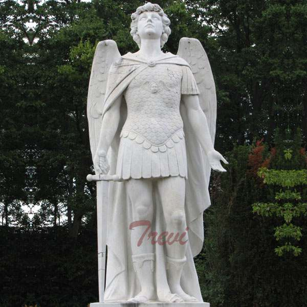 Best Price White Marble St Michael Statue Guardian Angel Statues CHS-735