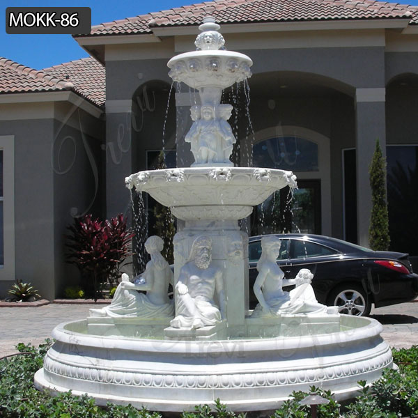 Buy Beautiful Morden Outdoor Tiered Marble Water Fountain Online MOKK-86