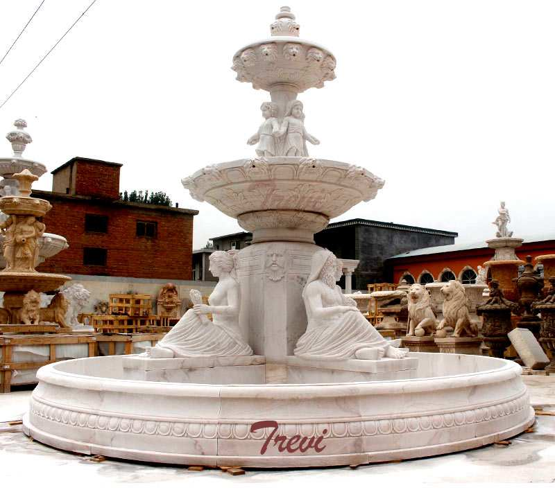 Buy Beautiful Morden Outdoor Tiered Marble Water Fountain