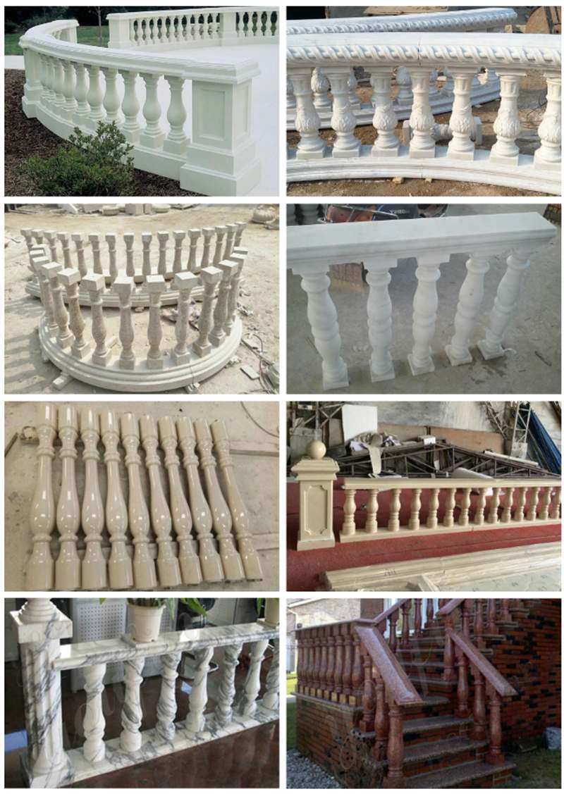 Cheap Price Marble Stairs Pillar for Indoor Decoration