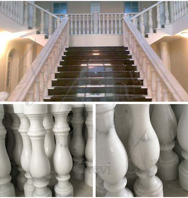 Cheap Prices Marble Stairs Pillar for Indoor Decoration for sale
