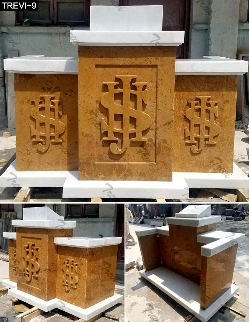 Hand Carved Marble Pulpit for Church from Factory Supply