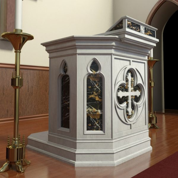 Hand Carved Marble Pulpit for Church from Factory Supply CHS-358