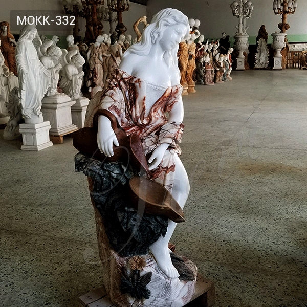 Hand Carved with Statuary Marble Fountian Online