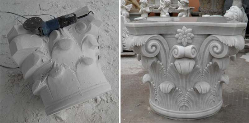 Hand carved Exterior House Pillars Carved Female Design