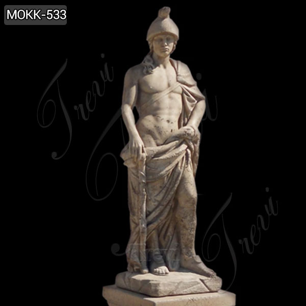 Life Size Marte Mars God of War Sculpture Famous Marble Statue MOKK-533