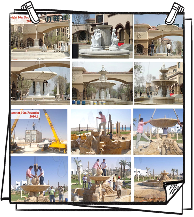 Process of Outdoor Water Fountain for Sale