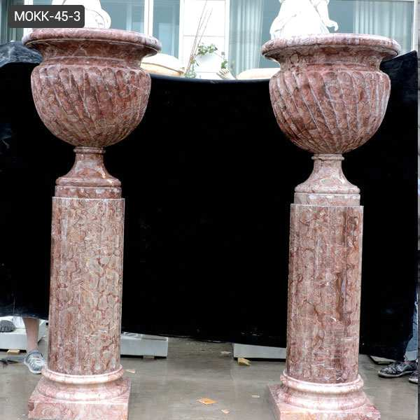 Stone Marble Planters for Home Garden Decoration Manufacturers MOKK-45-3
