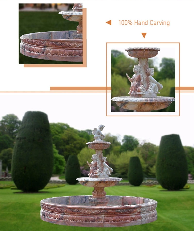Two Tiered Natural Stone Water Fountains_on sale