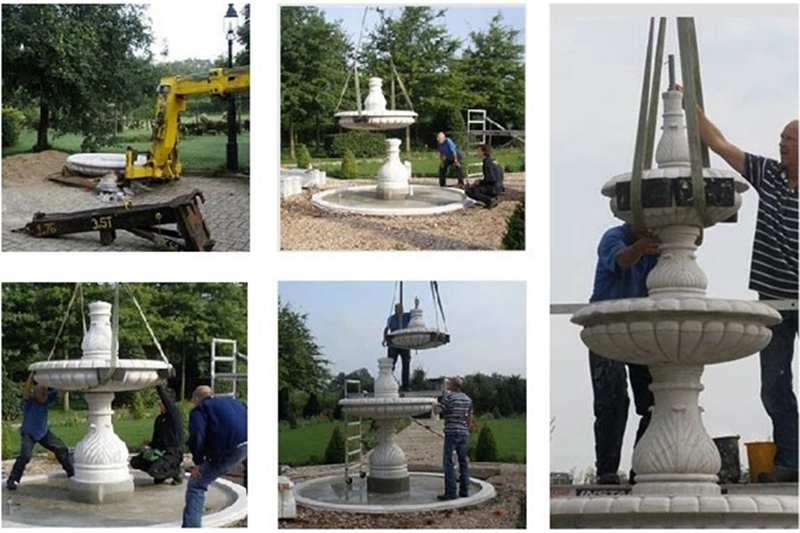 process of Morden Outdoor Tiered Marble Water Fountain Online