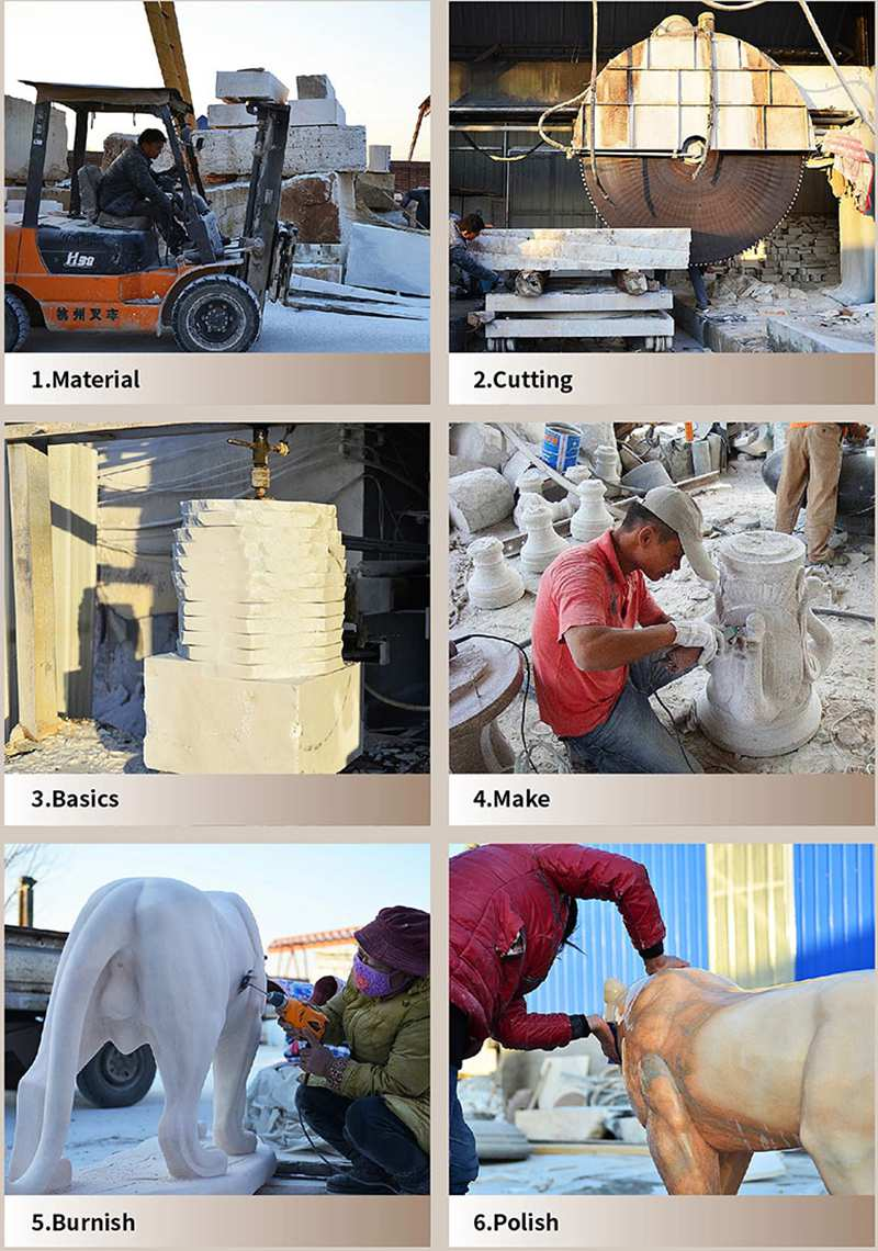 process-of-Stone Marble Planters